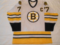 "Boston Bruins 1987-89 White Ray Bourque ""C"" Great Wear!!"