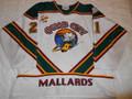 Quad City Mallards 2005-06 White Jesse Rycroft Great Wear Patches!!