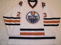 Edmonton Oilers 2002-03 White Cory Cross Nice Wear!!