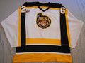 Grand Forks Border Bruins White 2000-2003  KIJHL NOB Removed Nice Wear!!