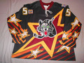 Chicago Wolves 2000-01 Brown Eric Houde Two-Patch All-Star Jersey!!