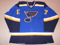 St. Louis Blues 2002-03 Blue Ryan Johnson Great Style!!