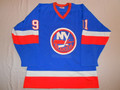 New York Islanders 1982-83 Blue Butch Goring Great Wear Stanley Cup Season!!