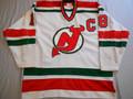 "*New Jersey Devils 1983-85 White Mel Bridgman w/ ""C"" Repairs!!"