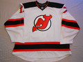 New Jersey Devils 2008-09 White Mike Rupp Nice Shoulder Repairs!!