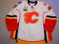 Calgary Flames 2009-10 White Cory Sarich w/30th Anniversary Patch Photomatched!!