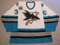 San Jose Sharks 1992-93 White Dan Ryder Call Up Jersey!!