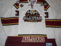 All Star ECHL 2011 white Steven Tarasuk Nice Jersey LOA!