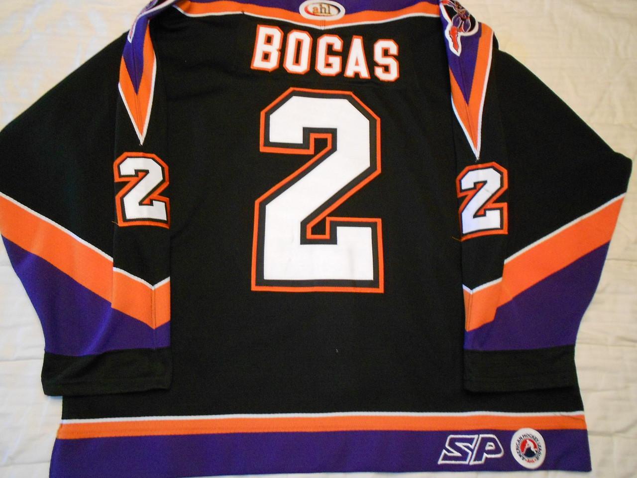 on sale c3aa6 c8270 Philadelphia Phantoms 2002-03 Black Chris Bogas Nice Style!!