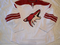 Phoenix Coyotes 2009-10 White David Schlemko Nice Wear!!