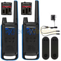 Motorola T800 Talkabout Two Way Radio Dual Pack complete kit