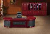 Platinum Executive desk with credenza and pedestal