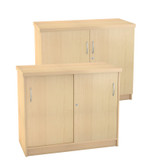 Impact  Credenza Cabinet With Sliding Doors