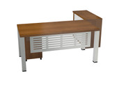 Arizona Main Desk With Credenza Cabinet