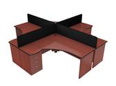 Oxford Cluster Main Desk Unit With Rectangular Desk Screen