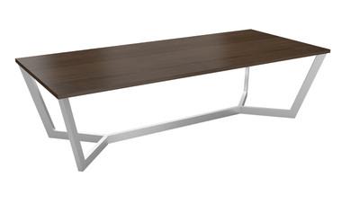 Boardroom Table 2400 x 1200 - Steel Frame/ Rectangular Top
