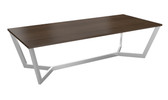 Boardroom Table 2400 x 1200 - Steel Frame/ Rectangular Top