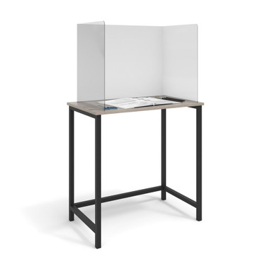 School Desk Screens 3mm Perspex Screens Including Corner Brackets Available in: 550w x 450d x 550h