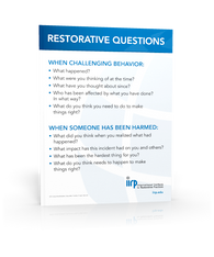 Restorative Questions Poster (English or Spanish)