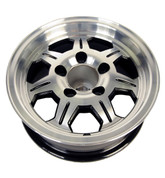 Allied Wheel 13 x 5 Aluminum Wheel 545 w/Black Detail #WH135-5ASB
