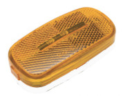 "Kaper II 4"" x 2"" 2 Diode LED Amber Marker Light with White Plastic Base and 2 Bare Wires #L14-0079A-NEW"