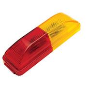 """Kaper II 3-3/4"""" x 1-1/4"""" 4-Diode LED Amber/Red Marker Light #1A-V-1240AR"""