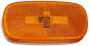 "Kaper II 4"" x 2"" Amber Marker Light Lens #L04-0059A-LENS"