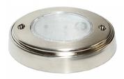 "Kaper II 5"" Oval 12 Diode Metal Finish LED Click Lamp #L09-0046"