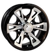 "Tredit 15 x 6, 6 on 5.5"" Aluminum 1411 SRS Wheel with Black Detail #WH156-6A-1411B"