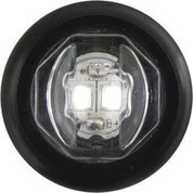 "Optronics 3/4"" Round Clear Lens 2 Diode Clear LED Utility Light #UCL-11CKB"