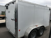 Used E-Z Hauler Aluminum 6 X 12' 7K Cargo Trailer W/ Barn Doors #12713
