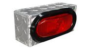"""UTA Brute Single Oval Light Box Diamond Tread 8.25"""" X 3.75Inh X 3Ind #LB001"""