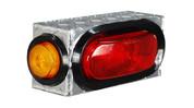 "UTA Brute Single Oval W/ Side Light Box W/ Side Light Diamond Tread 8.25"" X 3.75Inh X 3I #LB008"