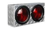 "UTA Brute Double Round Light Box Diamond Tread 12"" X 6Inh X 3Ind #LB009"