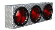 """UTA Brute Triple Round Light Box Diamond Tread 18"""" X 6Inh X 3Ind #LB010"""