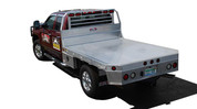 "UTA Brute GM Single Rear Wheel 80"" x 84"" Long Extruded Flatbed Front Bezel Cab To Axle 40"" - 42"" Headboard 80""W x 37""H #HXB8084400-12"