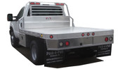 """UTA Brute GM Chassis Cab Dually 94""""x110"""" Long Extruded Flatbed Front/Rear Bezel Cab To Axle 60"""" #HXB94110402-12"""