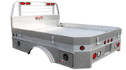 "UTA Brute Ford/RAM Chassis Cab Dually 94""x110"" Long Extruded Flatbed Front/Rear Bezel Cab To Axle #HXB94110403-12"