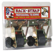 """Rack-Strap RS4 Gold Finish 1-5/8"""" OD Round Mount Tie Down Two Pack #RS4-K8J-C"""