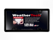 WeatherTech Clear License Plate Cover W/Black Frame #60020