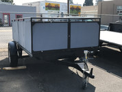 Used 5' X 10' Assembled Deck-Over Trailer W/ Ramps #62172