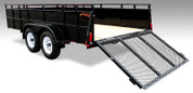 Rear View of Tandem Axle Landscape Trailer from Mirage