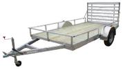 "Mission Utility 72"" X 12' 3K Wood Deck Utility Trailer with Ramp #MU72x12WR-2.0"
