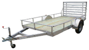 "Mission Utility 80"" X 10' 3K Wood Deck Utility Trailer with Ramp #MU80x10WR-2.0"