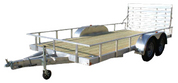 Mission Wood Deck 2.0 6.5' X 18' 6K Tandem Axle Utility Trailer #MLS6.5X18-2.0