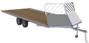 "Mission Open Snow Drive-On/Drive-Off 101"" X 18' Tandem Axle Aluminum Snowmobile Trailer #MFS101X18LV"