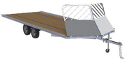 "Mission Open Snow Drive-On/Drive-Off 101"" X 14' Braked Tandem Axle Aluminum Snowmobile Trailer #MFS101x14LV-BR"