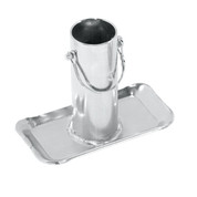 """Bulldog #018098 Tongue Jack Support Foot, Removable w/Lock Pin, 6.2"""" Tall, Rating 2,000 - 5,000 lbs. for Jacks w/2"""" Inner Tubes"""