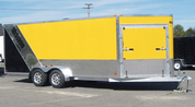 Mission MES 7' X 18' Tandem Axle Enclosed Snowmobile Trailer #MES7X16