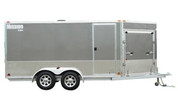 Mission MES 7-1/2' X 16' Tandem Axle Enclosed Snowmobile Trailer #MES7.5X16